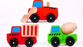 Learn Colors with Construction Toy Vehicles for Children