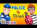 ChuChu TV Police Chase Thief in Police Car Save Huge Birthday...