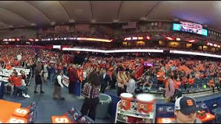 360 view of Carrier Dome Warmups