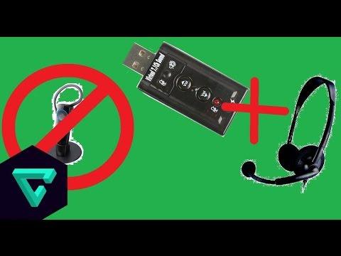 Como conectar auriculares con microfono de PC a PS3 (Placa de sonido USB)