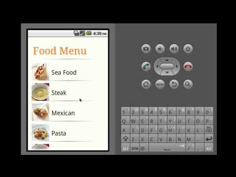 The Restaurant E-menu