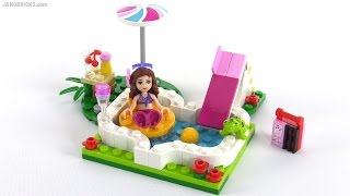 Lego friends smoothie stand polybag review set 30202 for Lego friends olivia s garden pool 41090