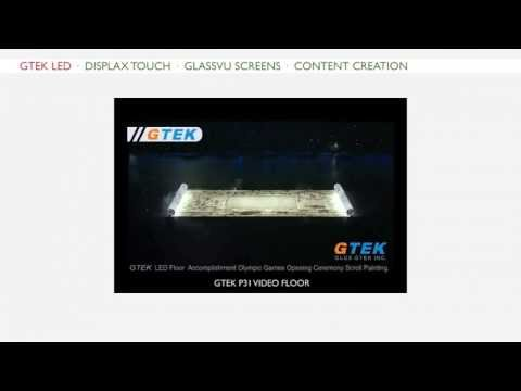 TCI &Acirc;&middot; GTEK LED Video Floor &Acirc;&middot; 3200 Square Metres &Acirc;&middot; 2008 Beijing Olympics Opening Ceremony