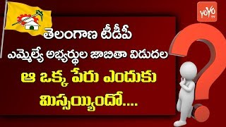 Telangana TDP Party Mla Candidates List of 9 | Elections 2018 News | Chandrababu