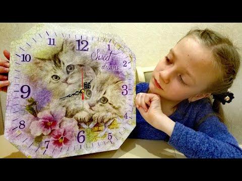 DIY Как ?Часы своими руками для детей мастер-класс . Игрушки .Обзор творческого набора часы .