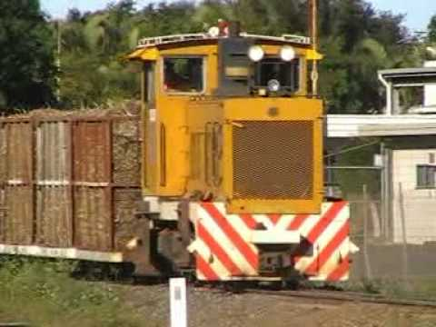 sugar cane train australia,near miss train verse a truck