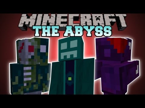 Minecraft : THE ABYSS DIMENSION DIMENSION STRUCTURES BOSS BIOME AbyssalCraft Mod Showcase