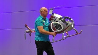 SELFMADE ROTORWAY EXEC-162 RC SCALE  VARIO MODEL HELICOPTER FLIGHT DEMONSTRATION INDOOR