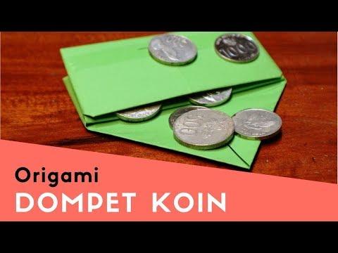 Tutorial cara membuat origami dompet koin dari kertas