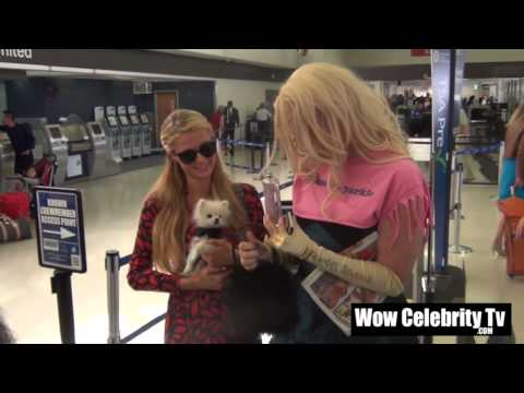Paris Hilton meets a superfan at LAX Airport