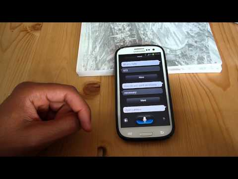 Samsung Galaxy S3 S Voice Test Video
