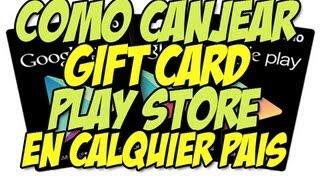 Como canjear Google Play GIFT CARDS en cualquier país | Tarjetas de regalo Google Play - Happy tech