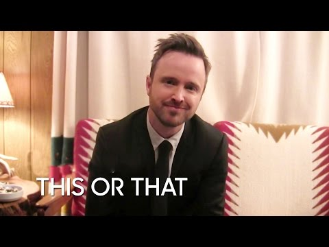 Would You Rather: Aaron Paul