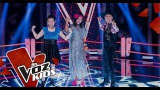 Celeste, Juan Esteban y Sara cantan en las Súper Batallas   La Voz Kids Colombia 2019