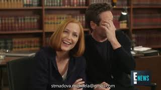 David Duchovny and Gillian Anderson - Bloopers moments Season 11