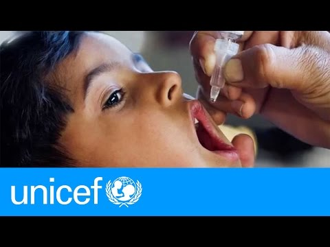 We're on track to completly eradicate polio