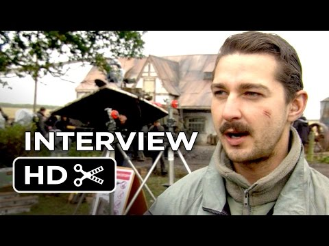 Fury Interview - Shia LaBeouf (2014) - Michael Peña, Brad Pitt War Drama HD