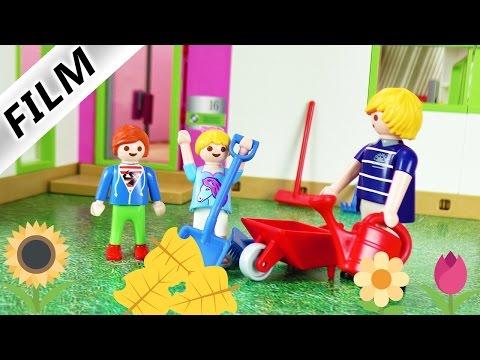 Playmobil Film Deutsch - IM GARTEN HELFEN? Nein danke! Julian drückt sich! Kinderserie Familie Vogel