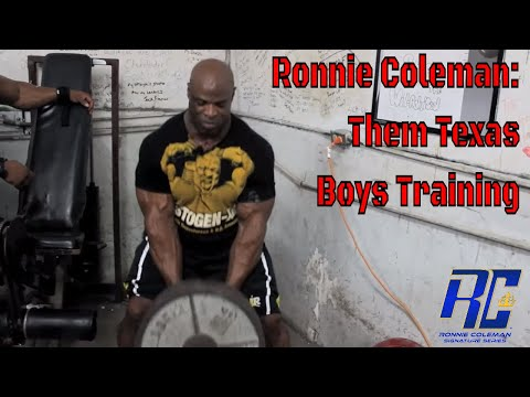 Ronnie Coleman- Them Texas Boys Training (back Day) video