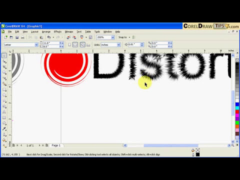 Using the distort tool in CorelDraw
