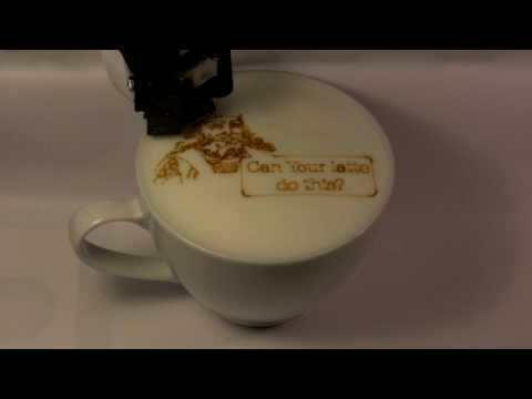 Latte Art Printer: Can your latte do this?