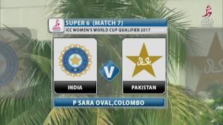 India v Pakistan, ICC Women's World Cup Qualifier, 2017