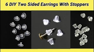 6 DIY Two Sided Earrings Making at home