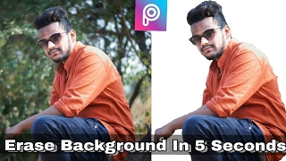 Erase Background in 5 Seconds in Picsart