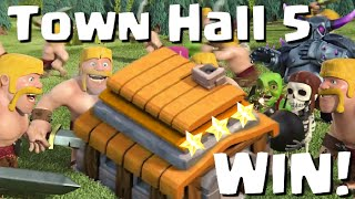 Clash of Clans Town Hall 5 Defense / Attack Strategy / War Bases - Let's Play #4