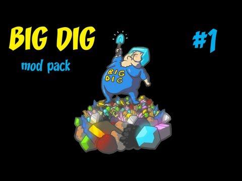 BIG DIG mod pack | Minecraft #1