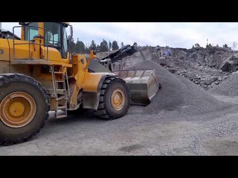 Volvo Bm L350 tömmer stenkross