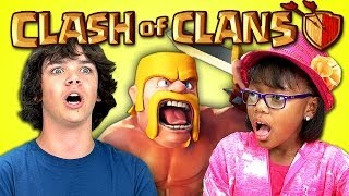 KIDS REACT TO CLASH OF CLANS