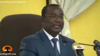 Selom KLASSOU présente la liste des membres de la CENI à élire à main levée pour gagner du temps