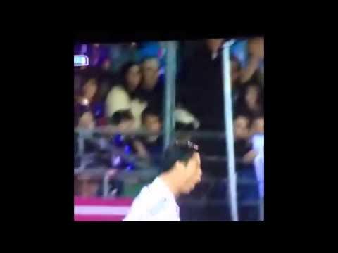 Carlo Ancelotti Attempts Cristiano Ronaldo Celebration.