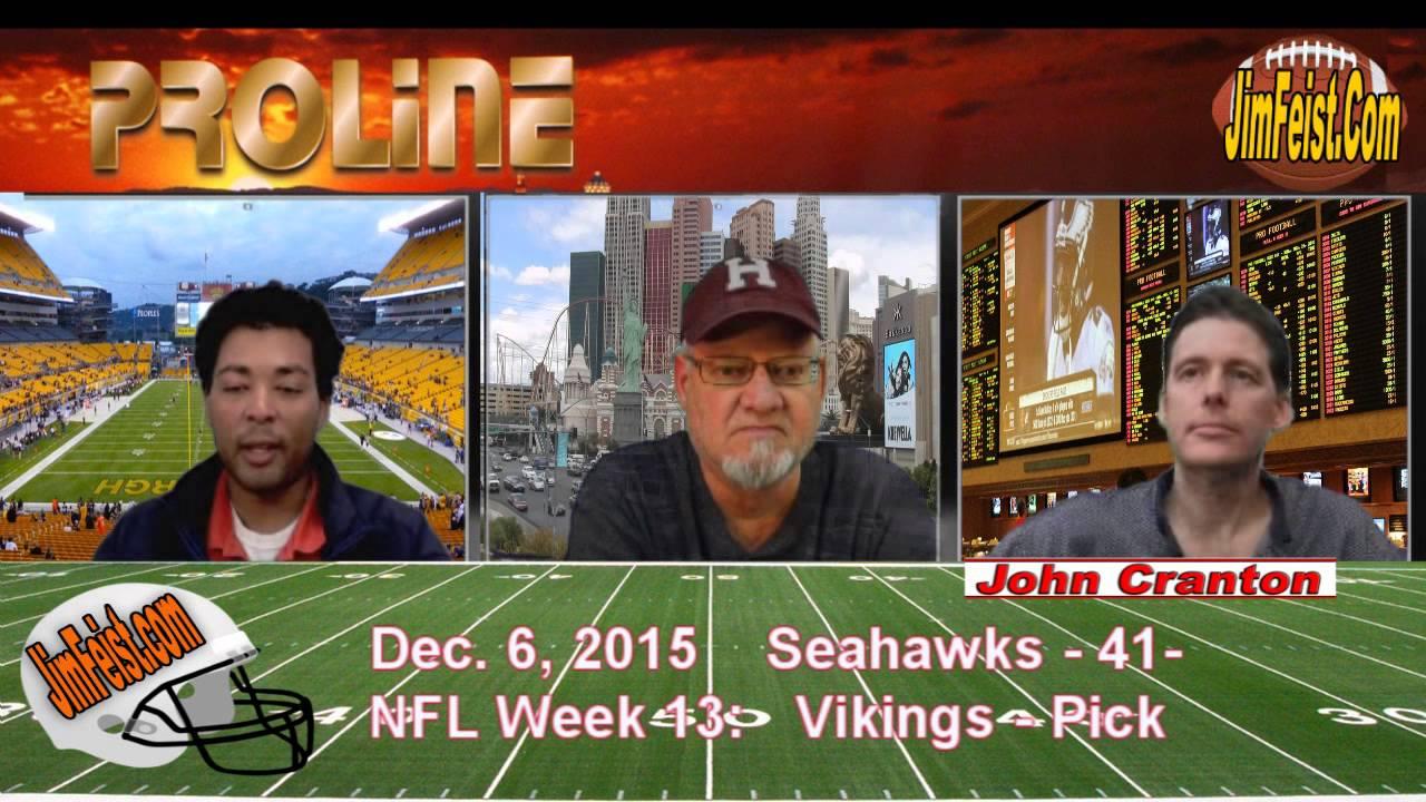 vikings vs seattle 2015 nfl this week odds