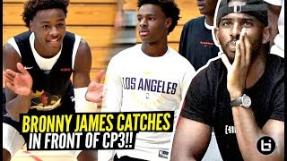 Chris Paul Watches Bronny James Activate STEPH CURRY MODE vs Carmelo Anthony's TEAM!!