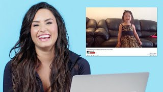 Download Lagu Demi Lovato Watches Fan Covers On YouTube | Glamour Gratis STAFABAND