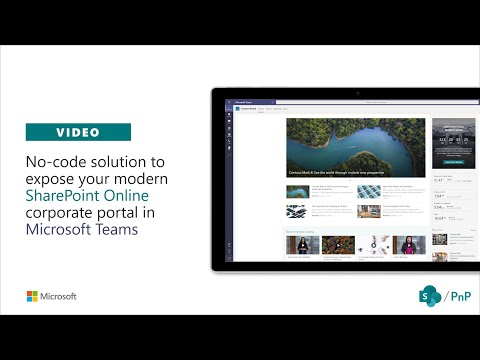 [Old video] - No-code solution to expose SharePoint portal in Microsoft Teams