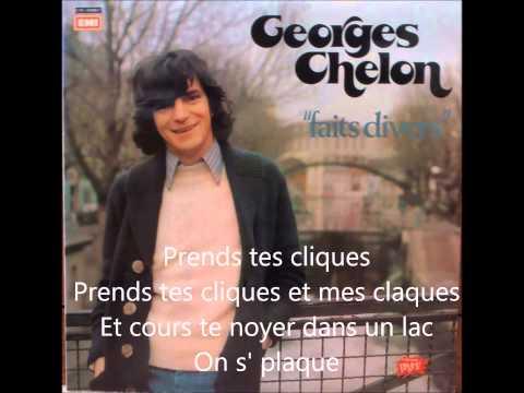 Georges Chelon - Prends tes cliques et mes claques