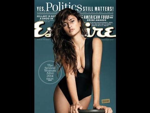 Penelope Cruz Esquire's sexiest woman alive - Watch Amazing Beauty