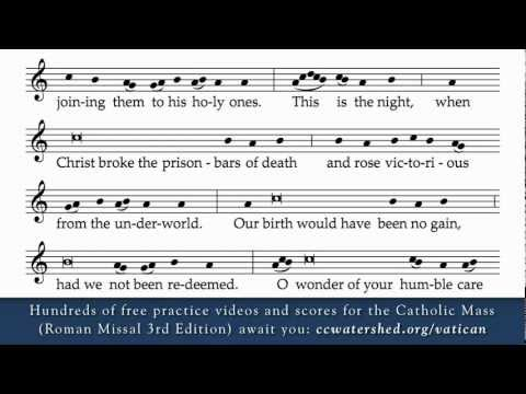 Easter Proclamation (Exsultet) - New Translation (Roman Missal 3rd Edition) Practice Recording