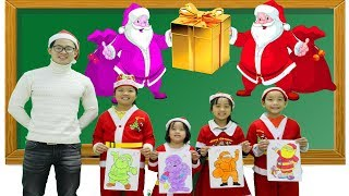 Kids Go To School Learn Colors with Draw Santa Claus Merry Christmas Songs For Children