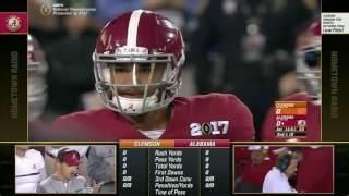 2016 CFP National Championship (Alabama Radio Broadcast) - #2 Clemson vs. #1 Alabama (HD)