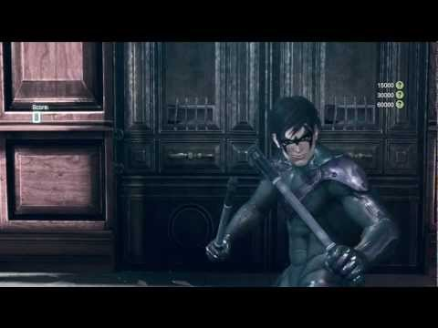 Arkham City - Nightwing DLC Gameplay #1