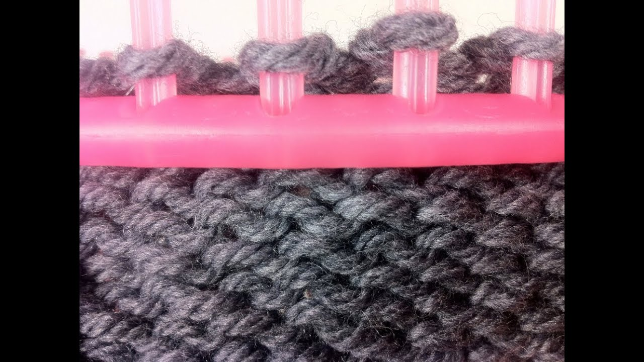Loom Knitting Purl Stitch Instructions : Circular Loom Knitting: How to Purl (DIY Tutorial) - YouTube