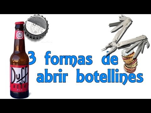 3 trucos para abrir botellines - Trucos de bar (Experimentos Caseros)