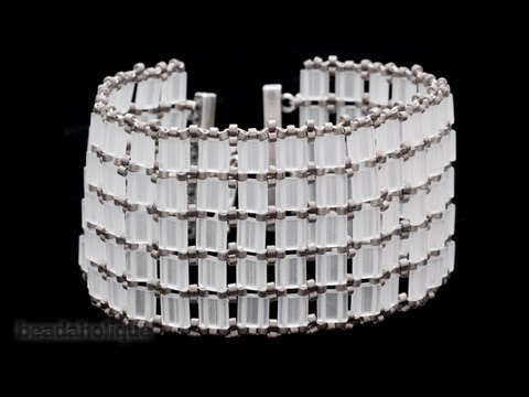 How to Bead Weave an Openwork Style Tila Bead Bracelet
