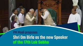 PM Modi felicitates the new Speaker of Lok Sabha