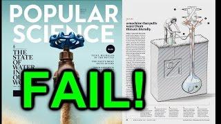 eevBLAB #30  - Popular Science FAIL! (WaterSeer Debunk)