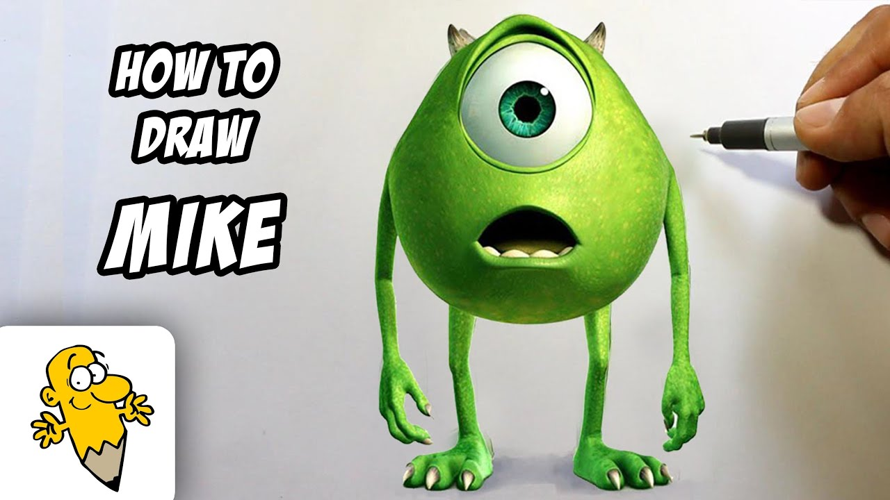 Mike Wazowski Drawing How to Draw Mike Wazowski in